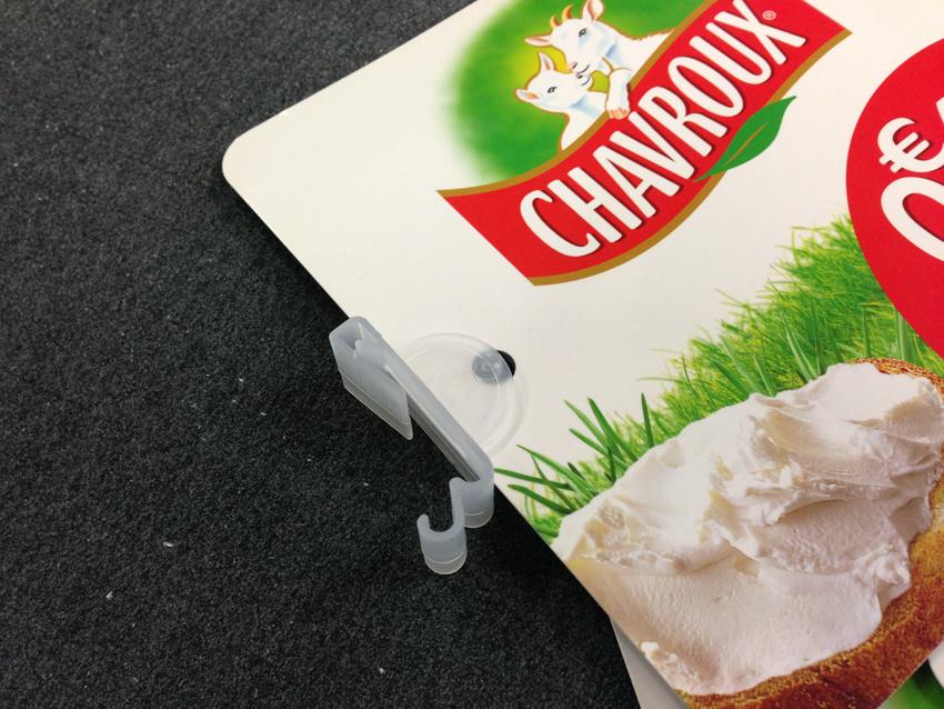 PLV stop rayon papier carton pvc 1 Stop rayon avec clip