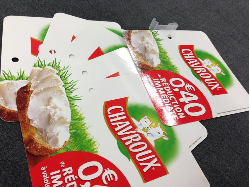 PLV stop rayon papier carton pvc 2 Stop rayon avec clip
